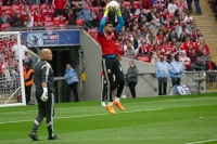 Steve working with Wes Foderingham at Wembley